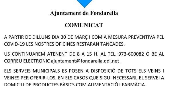 Comunicat 27/03/20