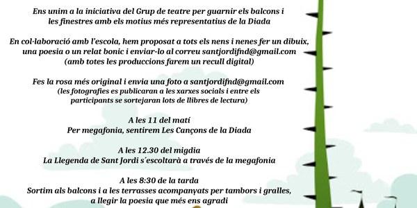Sant Jordi 2020 a Fondarella